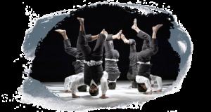 Reverse de Jann Gallois : 6 danseurs en cercle dansent la tête en bas